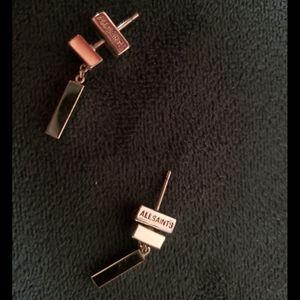AllSaints Silver Earrings